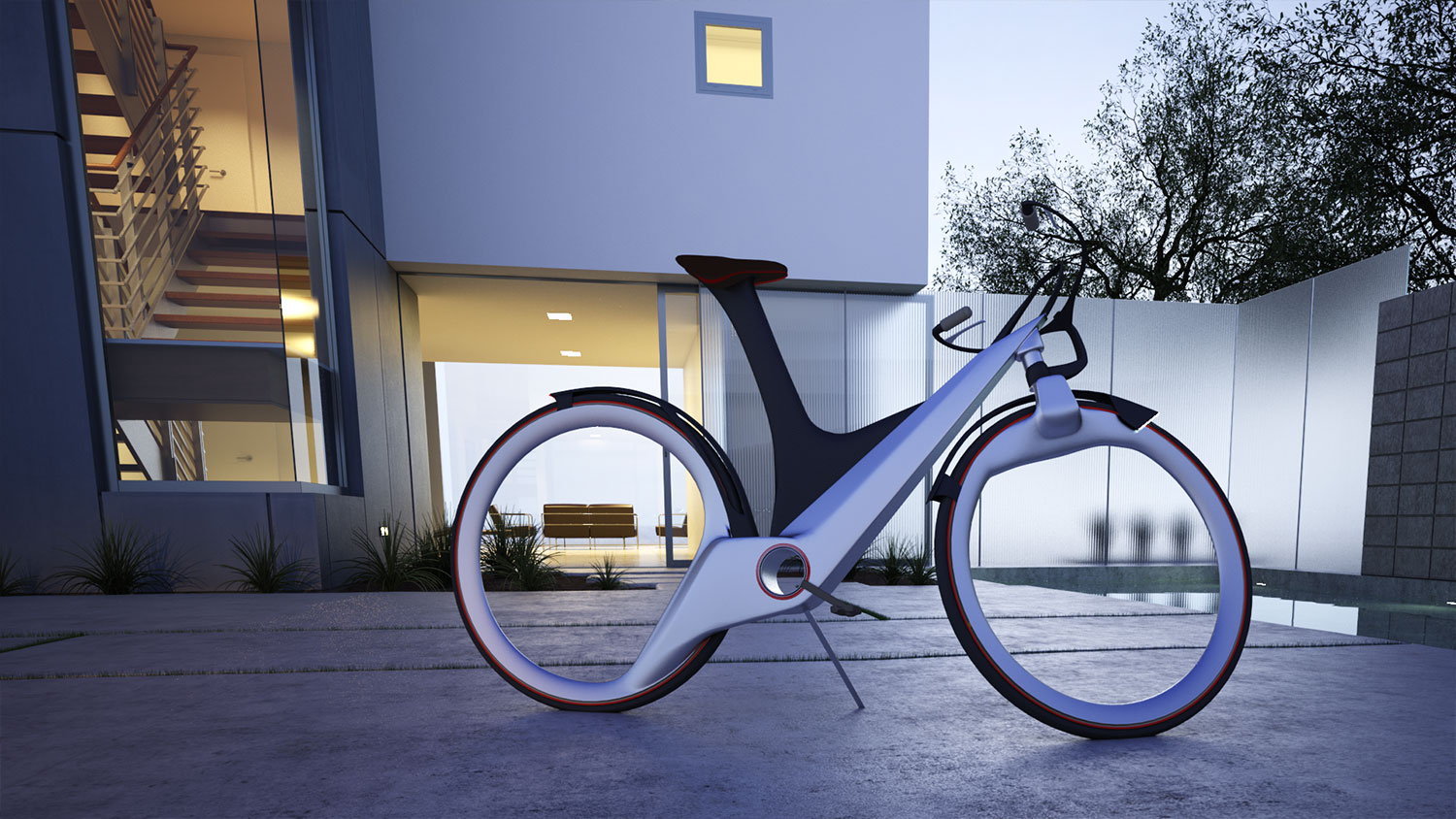 Modern city bicycle concept
