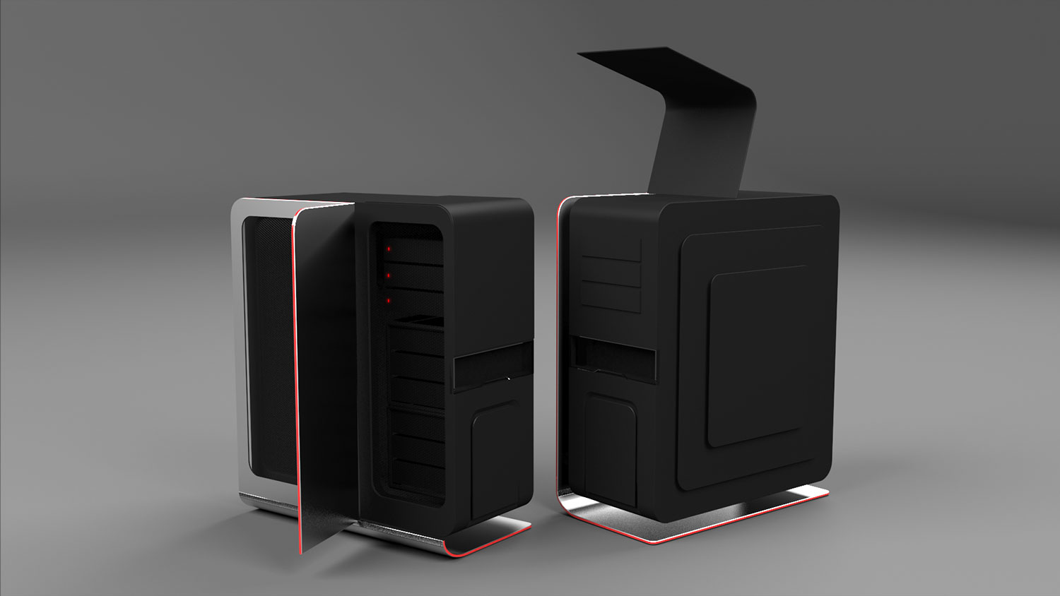 High-end PC behuizing concept