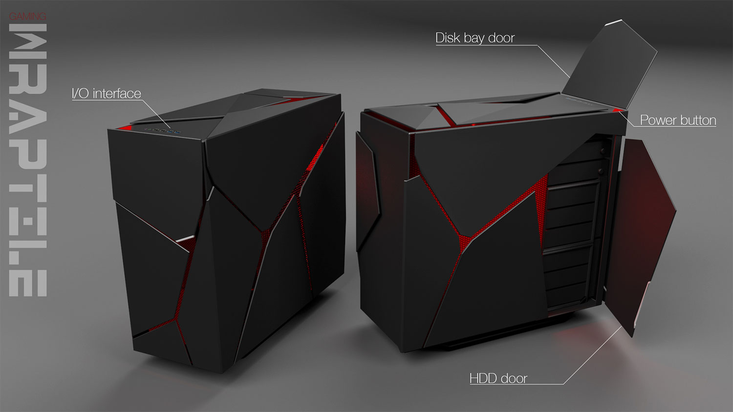 Game Pc Kast : High end pc case concept thomas swart u2013 freelance industrieel