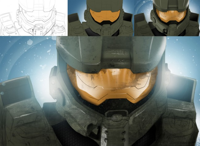 Sketch study | Halo Master Chief