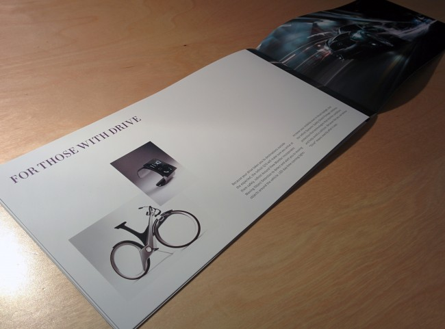 Modern city bicycle concept in brochure